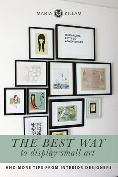 One way is to off-centre a small piece of art on a wall and connect it (or group it) with a small piece of furniture such as a reading chair or a console (instead of plunking it in the middle of the wall). #decorating #howtodecorate Interior Design Like A Pro, Picture Layouts, Home Pictures, Pictures Images, Artwork Display, Hanging Pictures, Small Art, French Country Decorating, Decorating Your Home