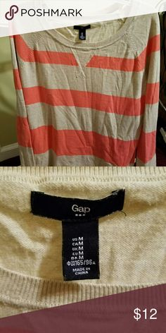Sweater Orange and cream stripped sweater from Gap. Great condition. GAP Sweaters