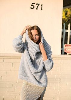 Ravelry: Genser med stor hals pattern by Liv Stangeland Knitwear, Knit Crochet, Kimono, Turtle Neck, Beautiful Women, Knitting, Pattern, Sweaters, How To Wear