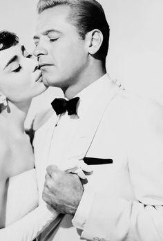 Audrey Hepburn and William Holden for Sabrina, 1954