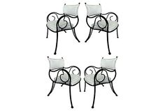 Iron Chairs w/ Scrolled Arms, S/4 on OneKingsLane.com