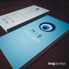 Einladungskarte für Beschneidungsfeier mit Nazar Auge und Maşallah Schrift • Nazar boncuklu ve Maşallah yazılı mavi Sünnet davetiye kartı