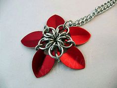 Scalemail flower pendant.