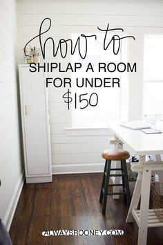always rooney: How To Shiplap A Room For Under $150   DIY