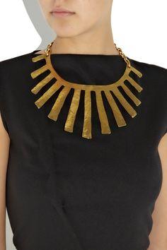 Yves Saint Laurent - Fringes gold-plated necklace