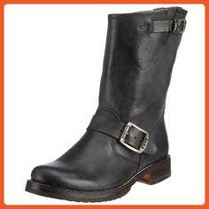64482bfb44f0 FRYE Women's Veronica Short Boot, Black Tumbled Full Grain, 7.5 M US - Boots