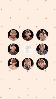 Exo Wallpaper Hd, Peach Wallpaper, Wallpaper Backgrounds, Baekhyun, Exo Group Photo, Exo Cartoon, Exo Stickers, Exo Album, Exo Official