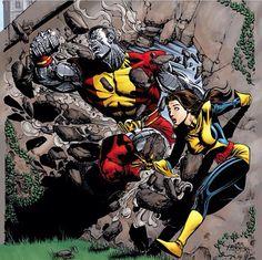 X-Men Colossus and Shadowcat
