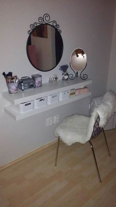 Beste Make-up Organisation DIY Wohnung Ideen - jewerly holders/organizations - Diy Room Decor, Bedroom Decor, Home Decor, Bedroom Ideas, Master Bedroom, Vanity Design, Awesome Bedrooms, Dream Rooms, New Room