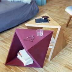 Geometric Side Table | 21 Geometric Furniture Ideas To Spruce Up Your Interiors