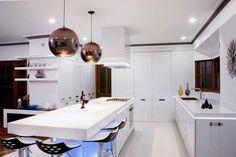 weißes interieur ideen led küchen beleuchtung