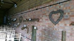 Logs candles and willow hearts