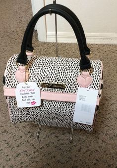 Betsey Johnson Speedy Lunch Tote Bag, Polka Dots, Insulated #BetseyJohnson #TotesShoppers