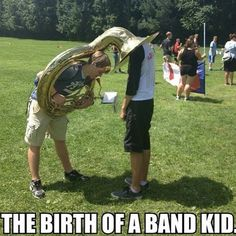 Whatever your parents told you is a lie  ~HautboisNate @oboedamore #marchingband…