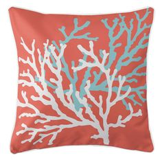 Coral Duo on Coral Pillow
