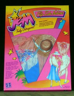 """1985 Original Hasbro Truly Outrageous Flip Side Fashions """"Rock Country""""-M.I.S.B."""