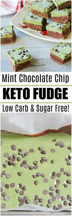 keto fudge Our double layer chocolate mint keto fudge is the perfect treat when you need something to curb that craving! Make a double batch for holiday parties and pot lucks, they won't even know it is a low carb/keto recipe. #lowcarb #keto #sugarfree #fudge #dessert