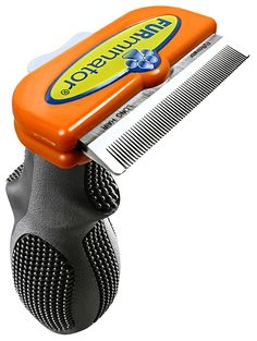 The FURminator deshedding tool is a specially designed shed-less treatment for cat and dog brush. FURminator's unique blade is designed to remove loose hair like no other. Dog groomers love this deshedding brush because it removes undercoat hair from dogs and cats while leaving the shiny top coat intact and healthy.