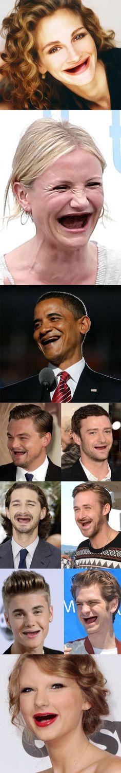 Teeth are important old people.......... BBBBBBBBAAAAAAAAAHHHHHHHHHHH!!!!!!!!!!
