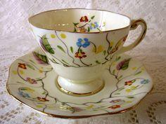 Beautiful China, E B C 1930 English, China Handpainted, Bone China, China V2516, Floral,Teacups. FOLEY ...