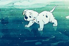101 Dalmatians puppies Animated Gifs Gallery and dog puppies from 101 Dalmatians movie. The Dalmatian breed is characterized by a white fur with black spots. Disney Pixar, Disney Animation, Walt Disney, Disney Dogs, Cute Disney, Disney And Dreamworks, Disney Cartoons, Disney Art, Disney Magie