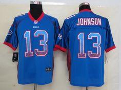 NFL Jersey's Women's Buffalo Bills Stevie Johnson Nike Royal Blue Limited Jersey
