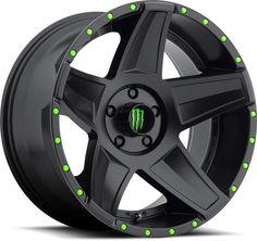 Monster Energy 648B Alloy Wheel in Satin Black for 07-16 Jeep® Wrangler &…