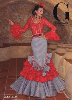 ~*020*~ Flamenca Unique Dresses, Cute Dresses, Spanish Dress, Spanish Style, Flamenco Costume, Cowgirl Dresses, Spain Fashion, Fancy Gowns, Ethnic Dress