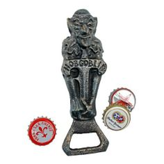Hobgoblin Beer Bottle Opener by Design Toscano. $12.95. Hand painted. Design Toscano exclusive. Solid cast iron. SP1506 Features: -Hand painted.-Vintage faux bronze.-Solid cast iron.