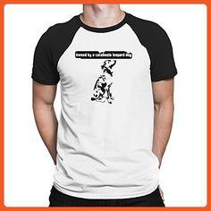 Teeburon OWNED BY A Catahoula Leopard Dog Raglan T-Shirt - Animal shirts (*Partner-Link)