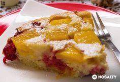 Fordított mangós-málnás gyors süti Paleo, French Toast, Sweets, Breakfast, Food, Yogurt, Morning Coffee, Gummi Candy, Candy