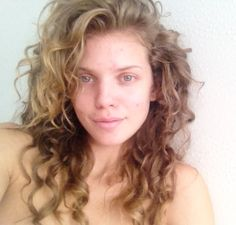 One of my fav hair girls AnnaLyne McCord Makeup Free