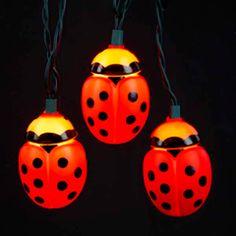 Plastic LadyBug Party String Light Set