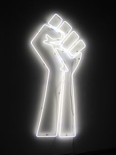 'Black Power - White Light' Neon, 2011, Jefferson Pinder.