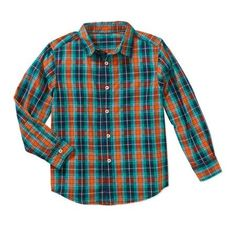 Faded Glory Boys' Long Sleeve Woven Shirt, Size: XL - 14/16, Multicolor