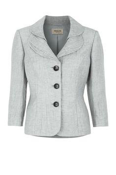 Dove Grey Crinkle Jacket
