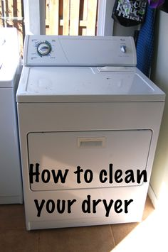 Cleaning your dryer | DIY Project-aholic
