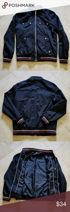 H&M jacket mens Great condition. Size 44R. Fits like a medium. Shell: 100% organic cotton. Lining: 100% polyester. H&M Jackets & Coats Bomber & Varsity