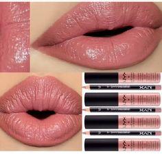 Lip combo: Nyx Cosmetics Lip Liner : Nude Pink Soft Matte Lip Cream : Stockholm