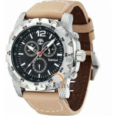 TIMBERLAND Front Country Ecru Leather Strap