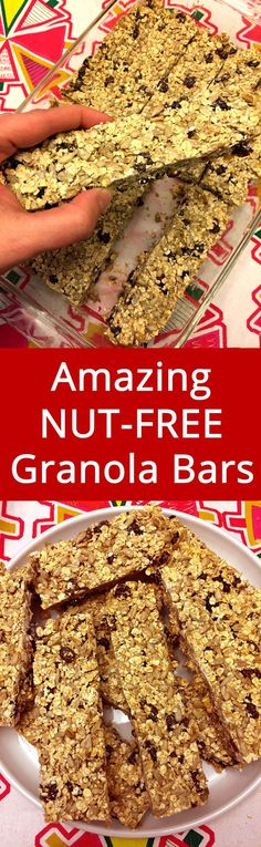 Sweet, chewy and delicious! Super filling too! This is my favorite granola bar recipe!