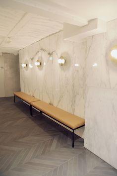 Ravintola Michel Helsinki laatat ja marmori ABL-Laatat Public Spaces, Cafe Restaurant, Helsinki, Outdoor Furniture, Outdoor Decor, Interiors, Home Decor, Garden Furniture Outlet, Decoration Home