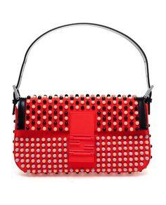 fendi Baguette Studded Neoprene Shoulder Bag - Lyst Studded Bag d67282986680d