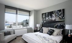 Ideas for decorating grey bedroom: black and grey bedroom color | Home Decor Trends