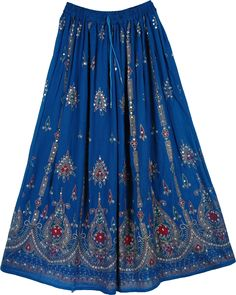bohemian skirts | Blue Gypsy Fashion Skirt | Sequin-Skirts | - Shop for bags, skirts ...