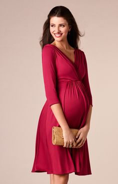 Willow Maternity Dress Raspberry Pink by Tiffany Rose