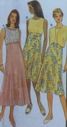 Dress Sewing Pattern UNCUT Simplicity 8507 Sizes 12-16