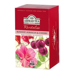 """English Teas, """"Rosehip, Hibiscus and Cherry - Fruit and Herbal Tea"""" - Tagged .: Savor the bold and deep flavors of rosehip and hibiscus enriched with a splash of cherry. Envelopes, Ahmad Tea, Tea Tag, Cherry Fruit, Herbal Tea, I Love Food, Gourmet Recipes, Herbalism, Food And Drink"""