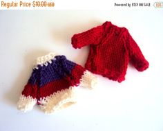 NEW YEAR SALE Knit Miniature Sweater Knit Sweater by GrahamsBazaar