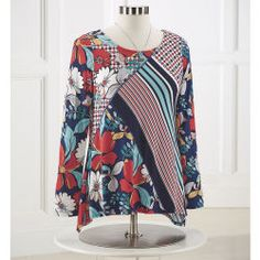 Bold Floral Graphic Top